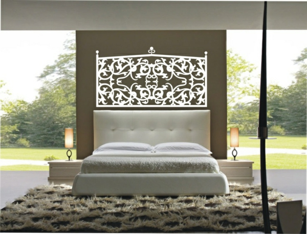 schlafzimmerwand gestalten kreative dekoideen. Black Bedroom Furniture Sets. Home Design Ideas