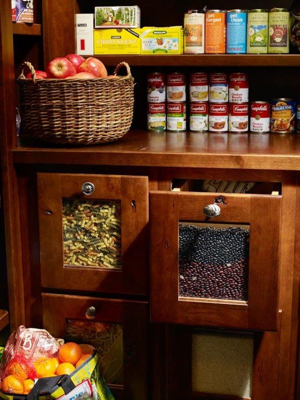 schubladeneinteilung küche eingebaute schubladen