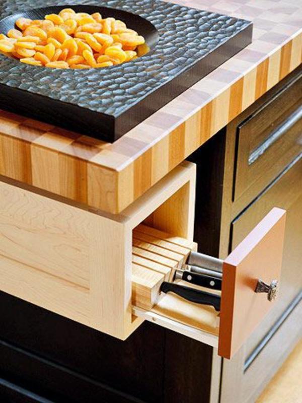schubladeneinteilung küche praktische ideen messer