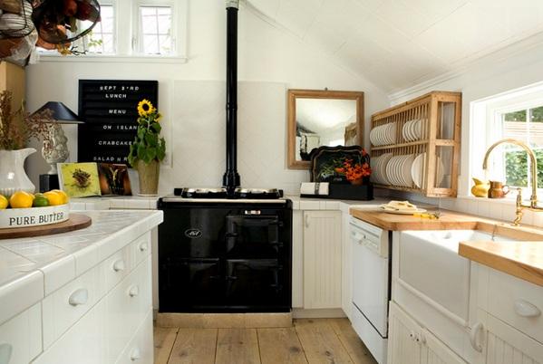schwarz weiße küche minimalistisch einrichten