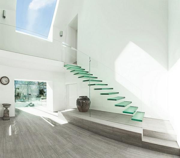 schwebende treppen glas dekoideen