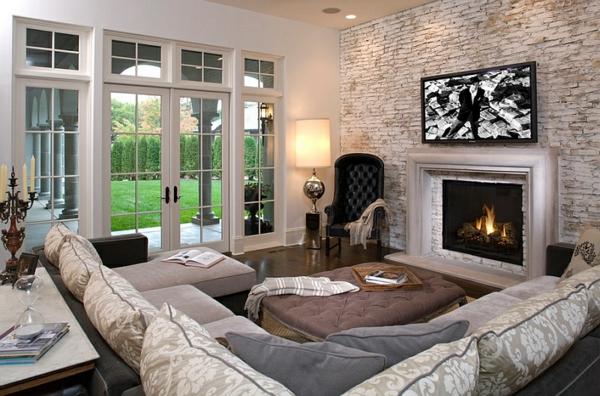 lampen und leuchten standleuchten wohnzimmer sofa holzboden kamin bodenlampe polstersessel