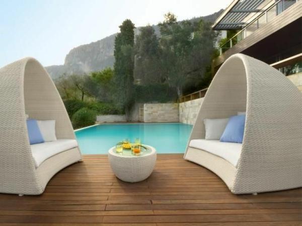 Gartenmobel weis rattan  31 Stilvolle Rattanmöbel werden Stimmung ins Haus bringen