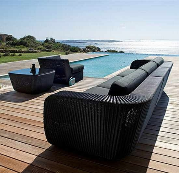 stilvolle rattan gartenmöbel sofa sessel tisch