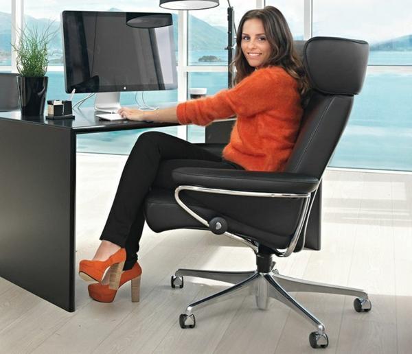 stressless bürostuhl mobil räder
