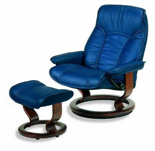 haus wohnung stühle sessel leder polsterung blau