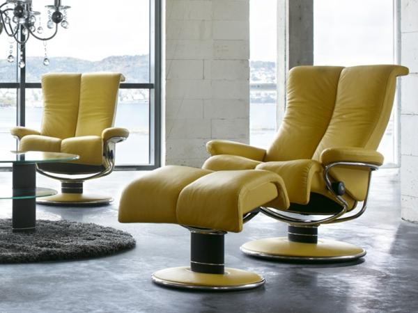 haus wohnung stühle sessel leder polsterung gelb