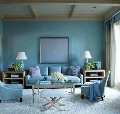 Taubenblau Wand wandfarbe taubenblau - wandgestaltung ideen mit blauen farbtönen