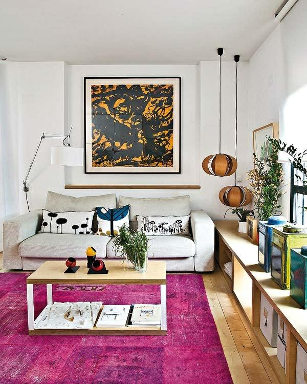 wohnzimmerboden modern:30 Designer Teppiche – moderne Traumteppiche