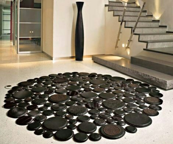 Teppich rund schwarz weiß  30 Designer Teppiche - moderne Traumteppiche