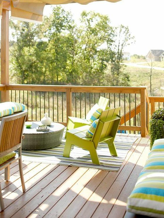 terrasse neu gestalten außenmöbel holzveranda