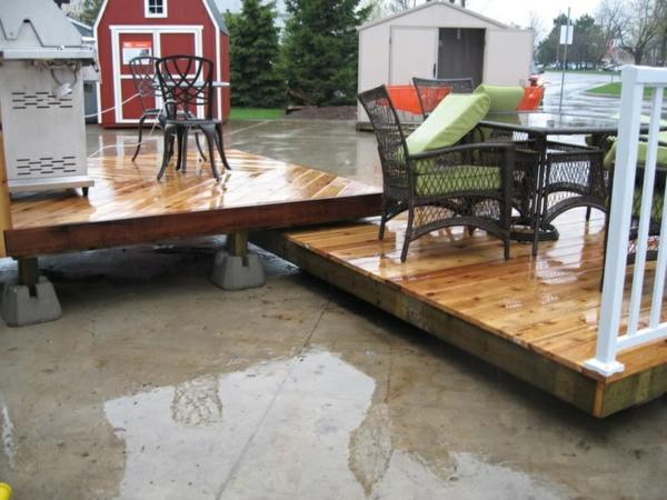 terrasse selber bauen holzveranda terrassendielen gartenmöbel
