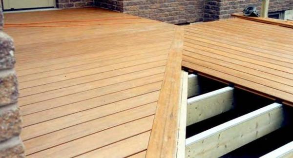 terrasse selber bauen holzveranda terrassendielen