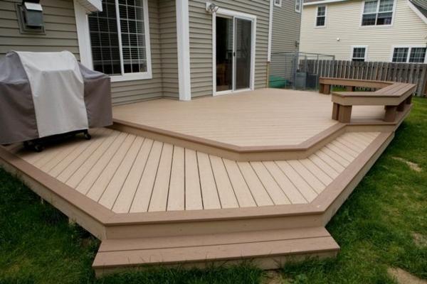 terrasse selber bauen holzveranda verlegen außenbereich garten