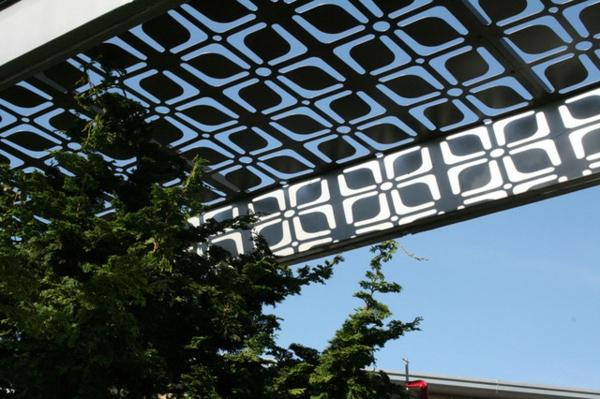 terrassenüberdachung pergola metall gazebo gartenlaube