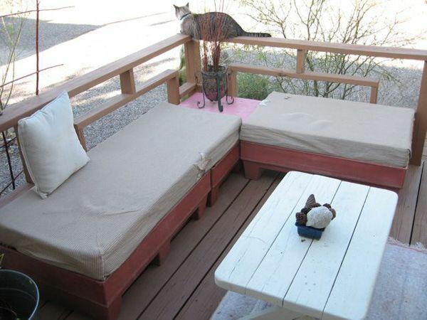 terrassengestaltung diy gartenmöbel sofa aus paletten