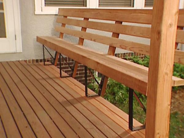 terrassengestaltung diy sitzbank holz