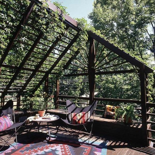 terrassengestaltung ideen diy pergola selber bauen
