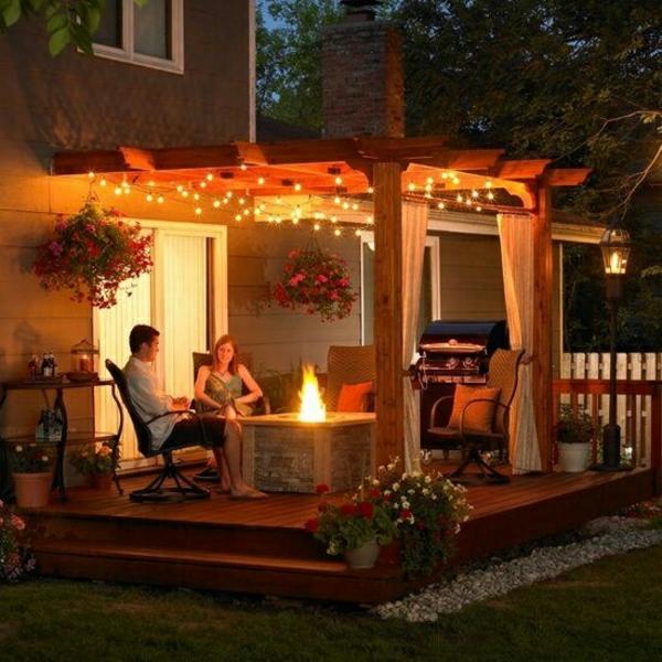 terrassengestaltung ideen diy pergola selber bauen patio