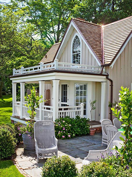 terrassengestaltung ideen holzveranda gartenmöbel