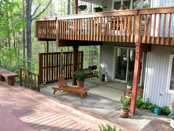 terrassengestaltung ideen terrassenüberdachung terrasse selber bauen holzveranda