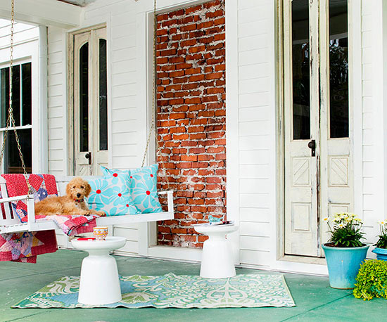 terrassengestaltung ideen veranda schaukel