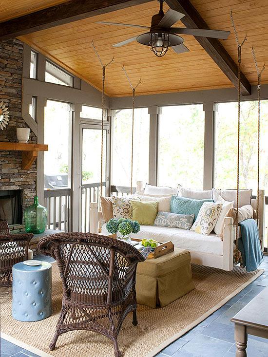 terrassengestaltung ideen veranda wintergarten möbel rattanmöbel sitzecke