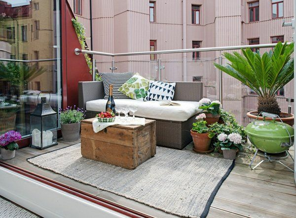 terrassengestaltung patio modern urban terrassenteppich