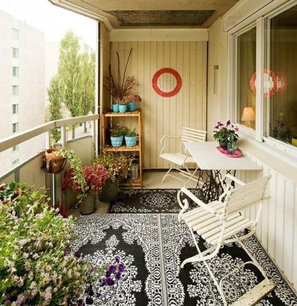 77 Praktische Balkon Designs: Ein Farbiger Terrassenteppich Wird Ihren Balkon Schön