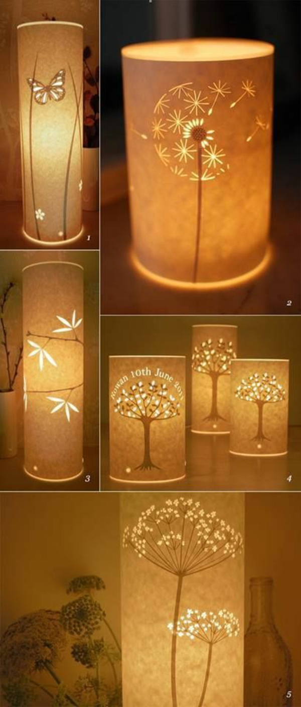 tischlampen papierleuchten verschiedene figuren