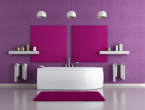trendfarbe 2014 pantone moderne badezimmer wandfarbe purpur