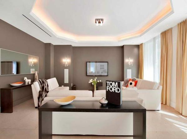 Streich Ideen Wohnzimmer Braun