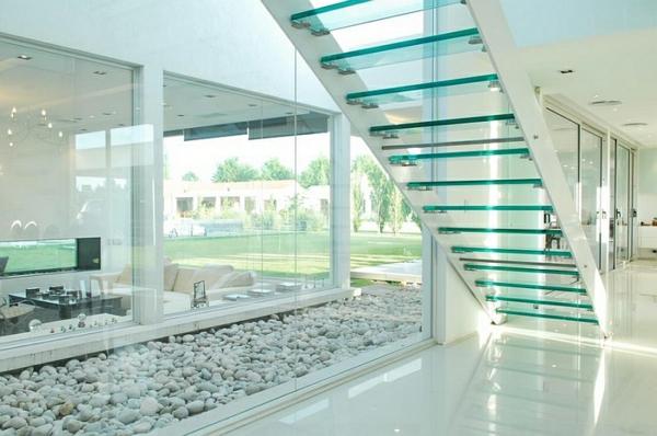 treppen aus glas zeitgenössisch licht effekt