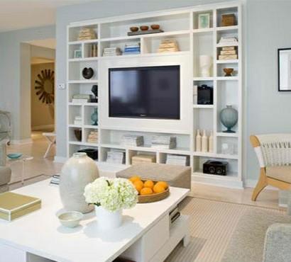 TV Wohnwand im modernen Wohnzimmer - 15 inspirierende Beispiele