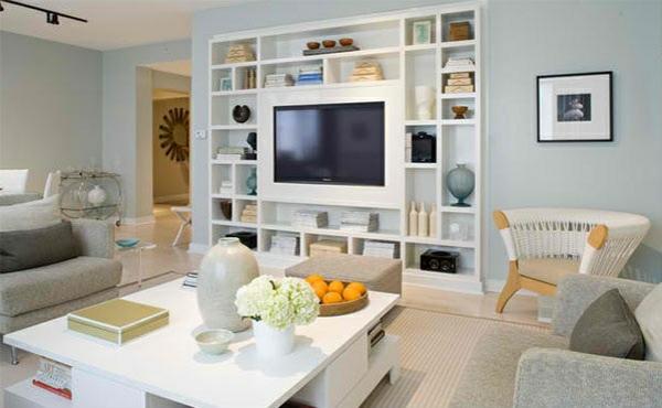 Tv Wohnwand Im Modernen Wohnzimmer - 15 Inspirierende Beispiele Fernseher Wand Deko