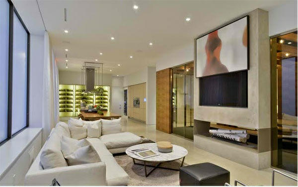 Tv wohnwand im modernen wohnzimmer 15 inspirierende for Wohnzimmer fernsehwand