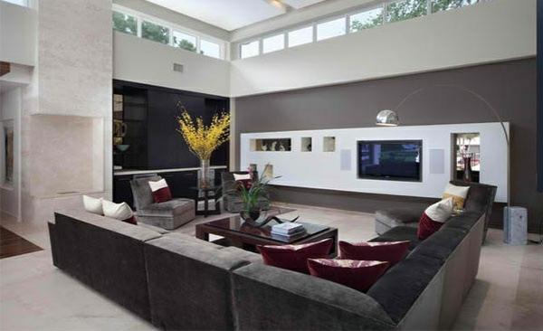 tv wohnwand medienwand moderne anbauwand wohnzimmer weiß grau