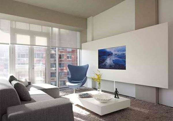tv wohnwand im modernen wohnzimmer 15 inspirierende beispiele. Black Bedroom Furniture Sets. Home Design Ideas