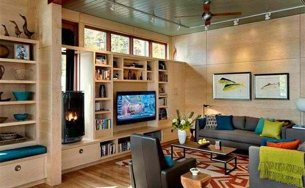 Tv wohnwand im modernen wohnzimmer 15 inspirierende for Design wohnwand holz