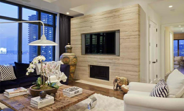 Tv wohnwand im modernen wohnzimmer 15 inspirierende for Wohnwand holzoptik
