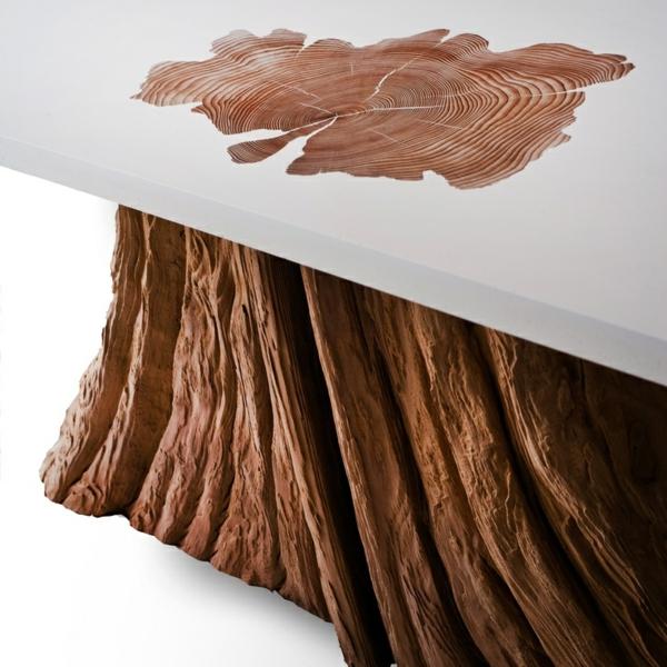 uniques couchtisch design zedernholz basis oberfläche