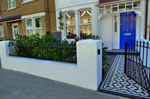 Vorgartengestaltung Modern Patio Klein Mosaik Pfad