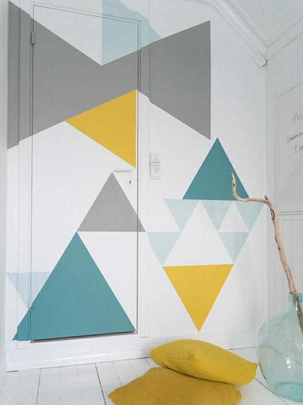 Streichideen Fur Wande Streifen : wände streichen geometrisch linien formen bunt figuren