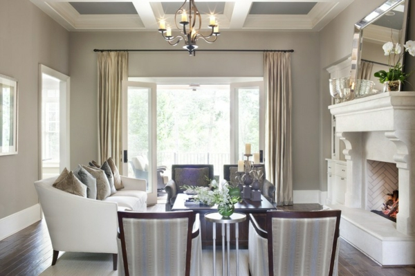 wandfarbe brauntöne wohnzimmer ideen sofa