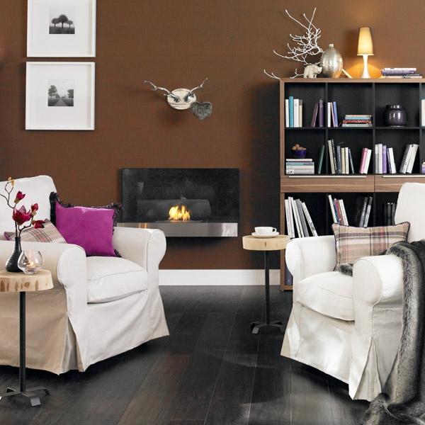 wandfarbe mocca w nde streichen in eine kaffeebraune. Black Bedroom Furniture Sets. Home Design Ideas