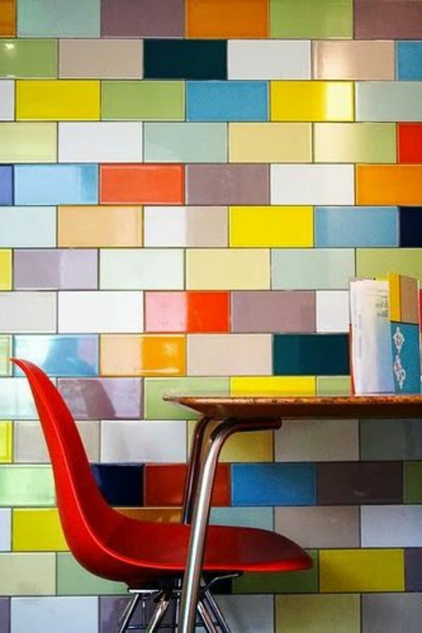 Wandfliesen Für Die Küche Tolle Küchenausstattung Ideen - Bunte fliesen küche