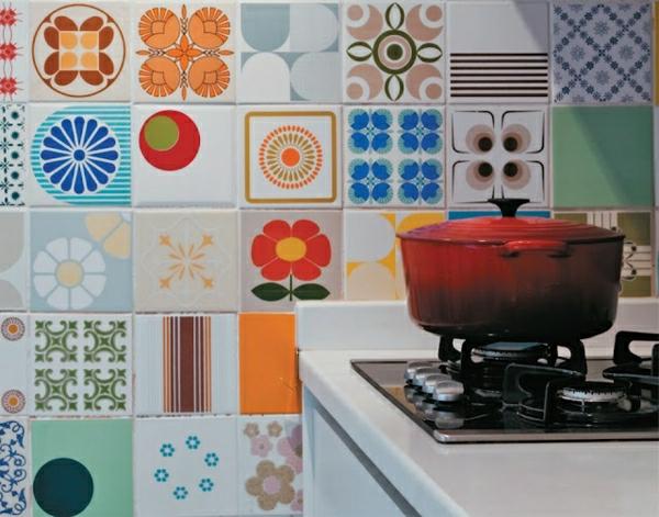 wandfliesen küche eklektisch stil