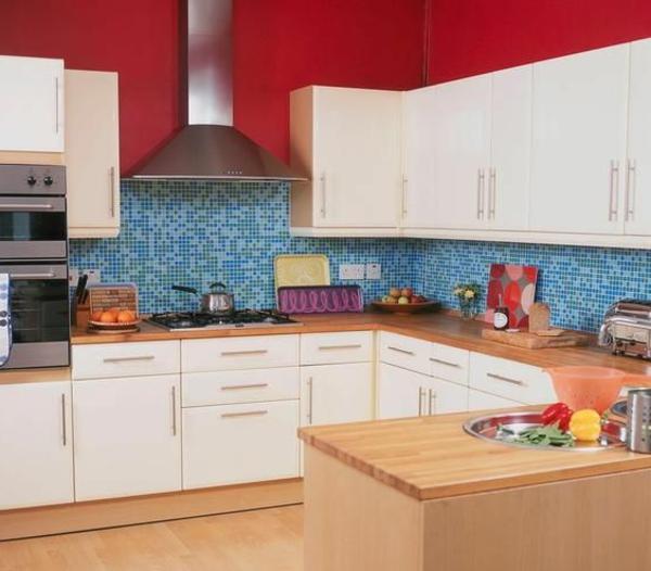 wandfliesen küche gelb weiß