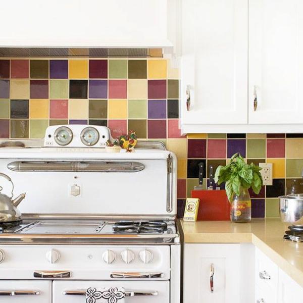 wandfliesen für die küche warme farben fliesenspiegel