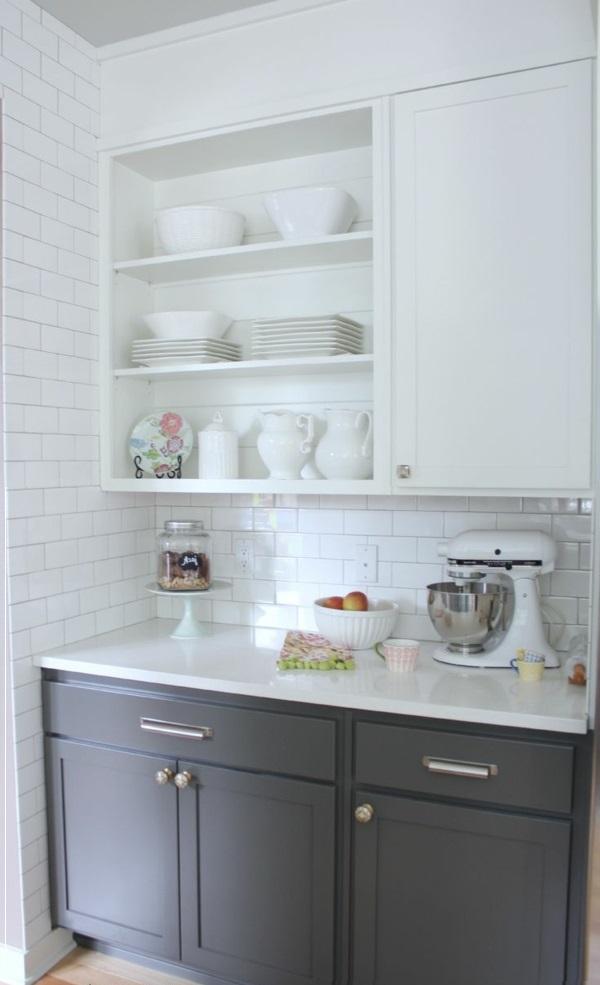 wandfliesen küche weiß regale küchenschrank